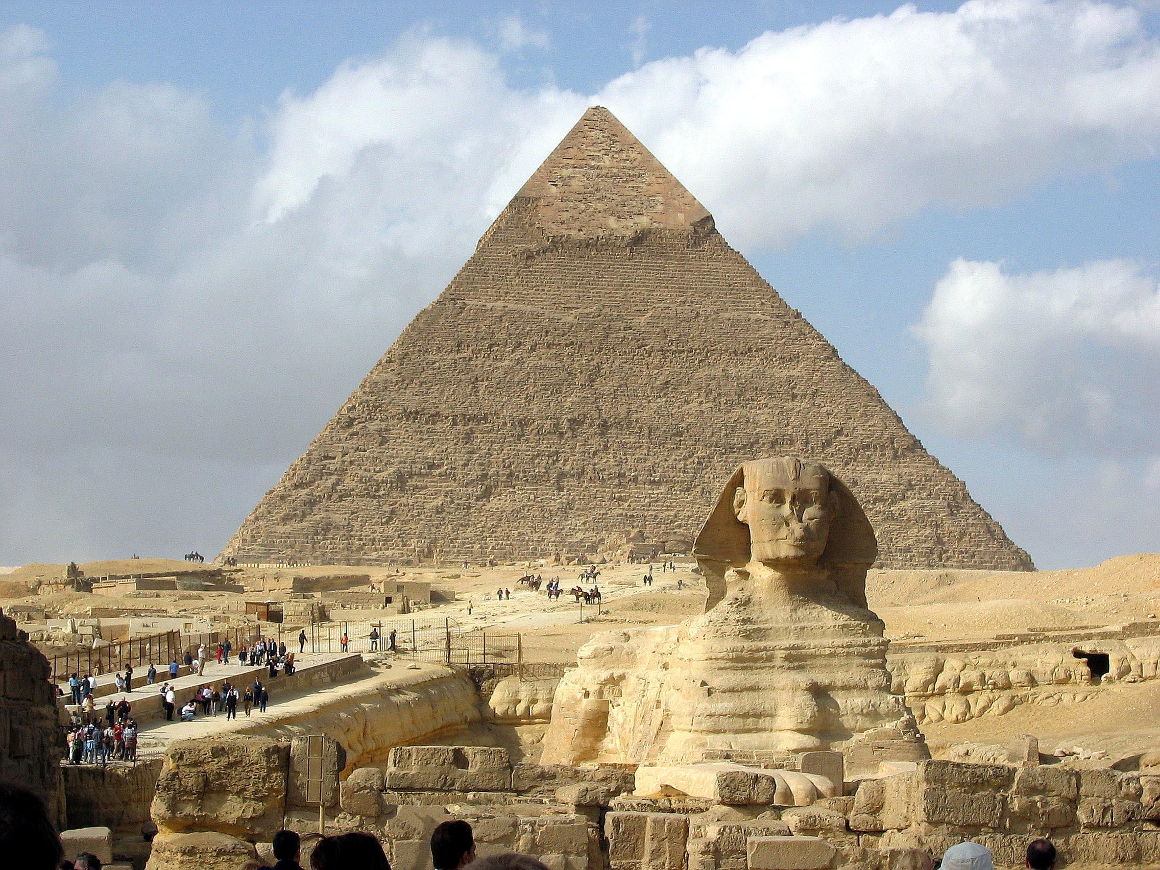 Giza Great Pyramids and Sphinx